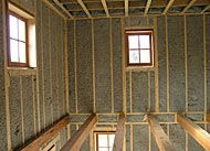 Cellulose insulation is made from recycled newsprint that has been treated with a fire retardant.