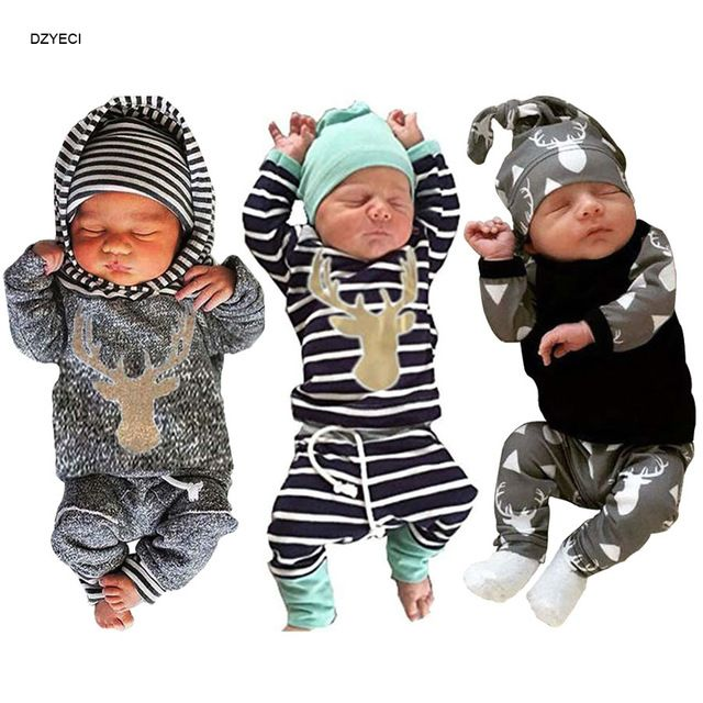 7b0b73735 My First Christmas For Babies Boy Set Clothes New Year Born Striped ...
