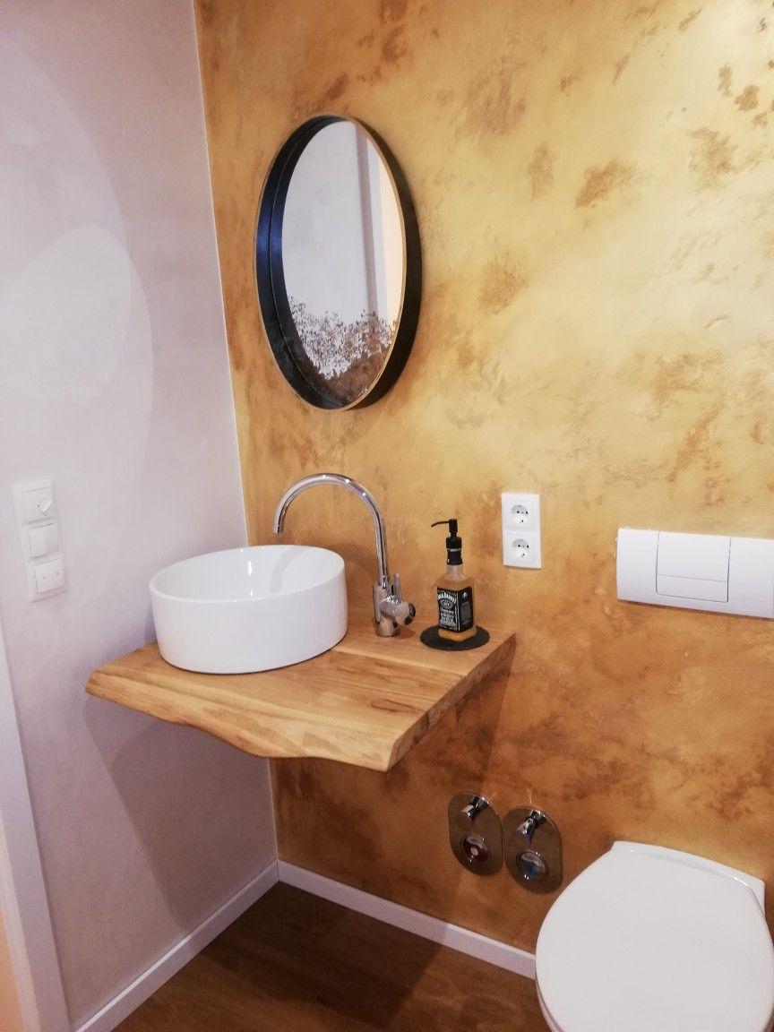Goldenes Wc Waschtisch Gaste Wc Badezimmer