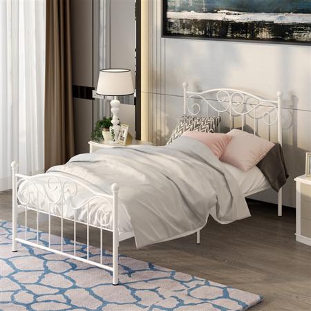 Home Twin bed frame, Vintage bed frame, Steel bed frame