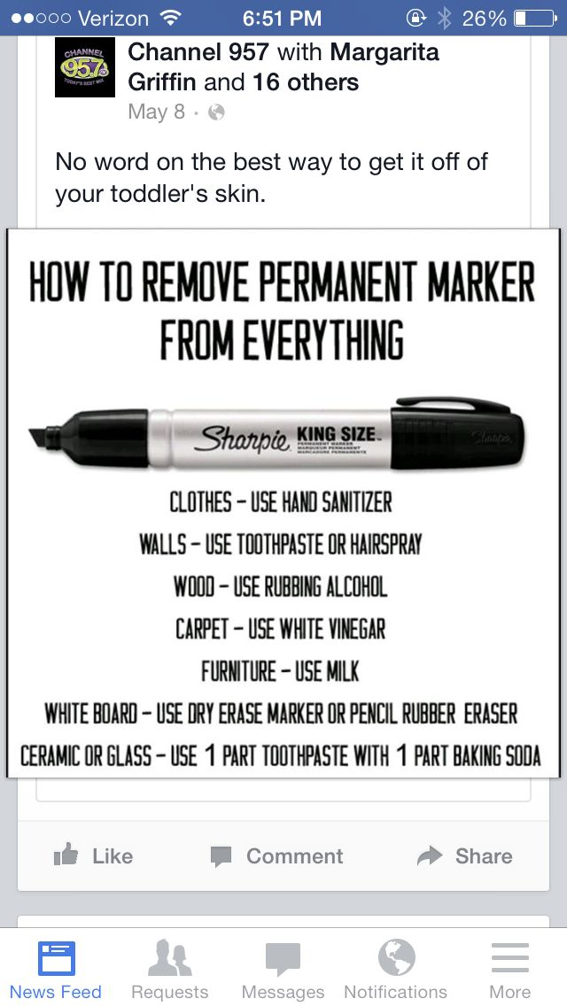 Get permanent marker out | DIY Laundry | Cleaning, Life