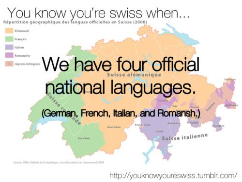 LanguagesWe Also Have Cantons That Have Two Languages And One - Switzerland language map