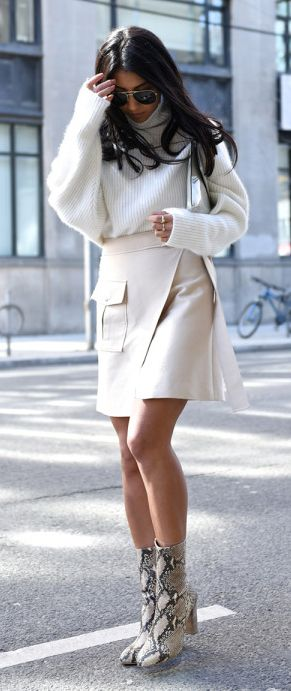 Rap around Dress with Boots Sweater