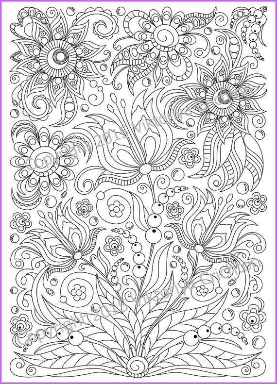 abstract doodle zentangle paisley coloring page for adults kleuren voor volwassenen kleuren voor volwassenen frbung fr