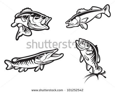 Walleye Silhouette Google Search Outline Pictures Fish Silhouette Tribal Tattoos