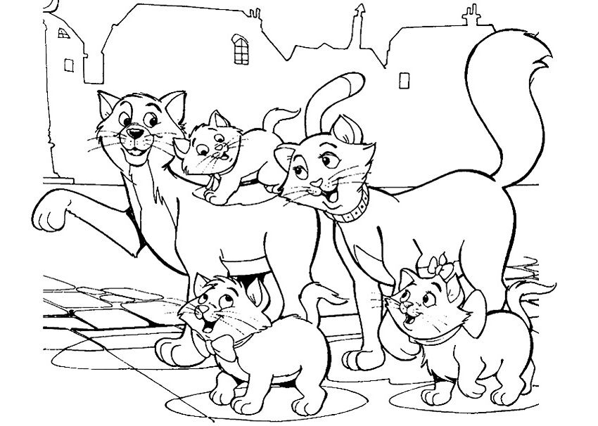 Ausmalbilder Aristocats Malvorlagen 01 Cartoon Coloring Pages