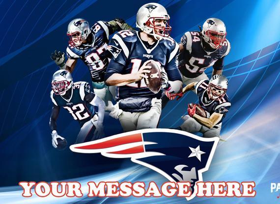 New England Patriots Cake Topper New England Patriots Edible