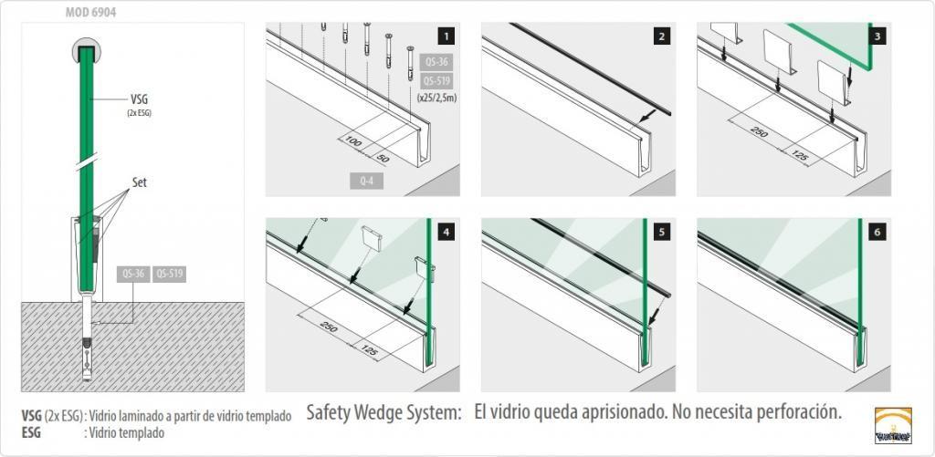 Barandillas de cristal dwg buscar con google barandas for Detalle barandilla vidrio