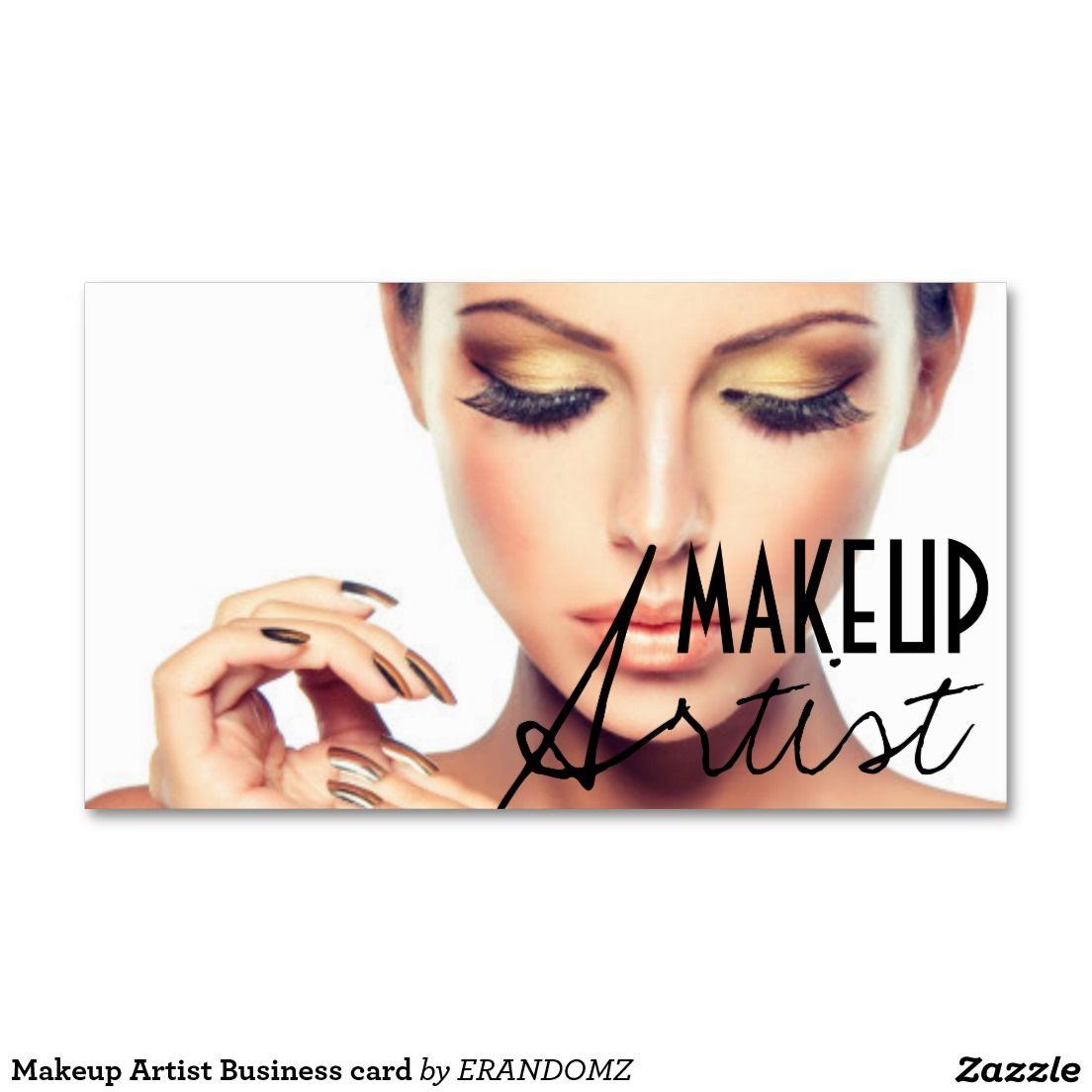 Makeup Artist Business Card Zazzle