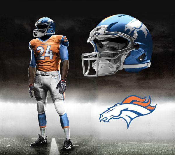 Denver Broncos desenhado no Corel Draw.....Meu Time NFL | Jobs ...