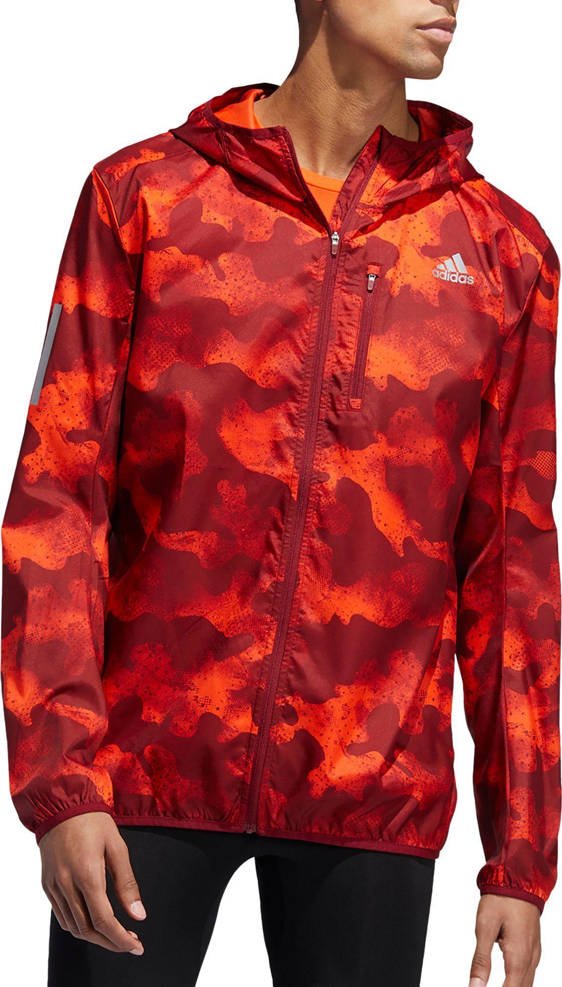 Adidas Men S Own The Run Camouflage Running Jacket Size Xl Activ Org Act Mrn Col Bur Running Jacket Adidas Men Jackets [ 2000 x 1138 Pixel ]
