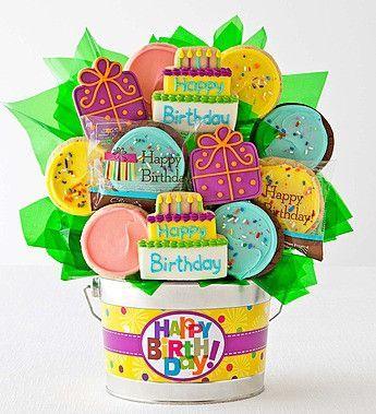 Cheryls Happy Birthday Cookie Flower Pot 12ct Pinteres