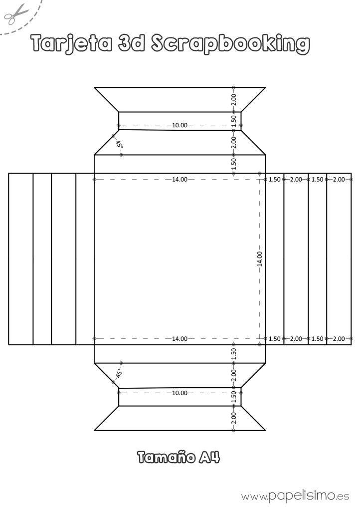 Plantilla-marco-3D-de-papel-tamano-A4-Scrapbooking | manualidades ...