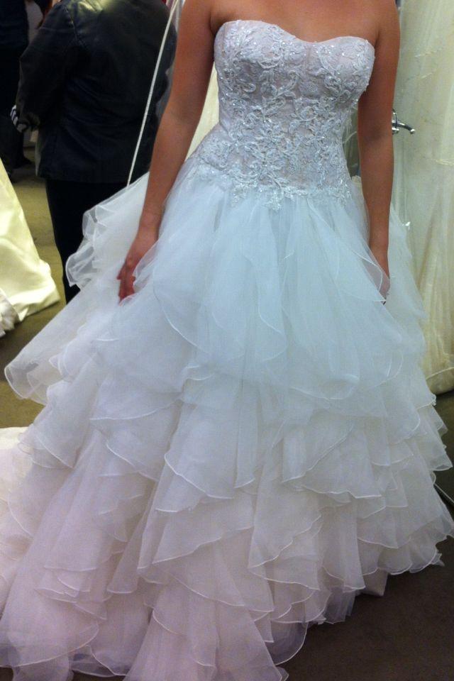 Oleg Cassini bridal wedding dress. Princess ball gown. Embellished ...