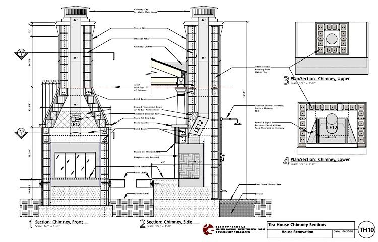 How To Build A Fireplace Chimney Design Build A Fireplace Construction Drawings