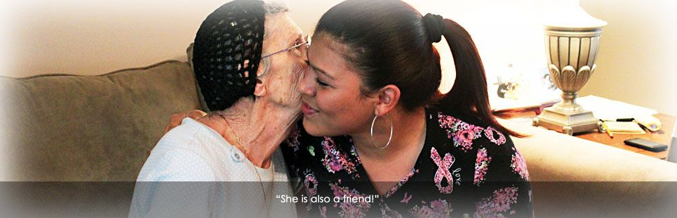 One of our caregiver with one of our client. (With images