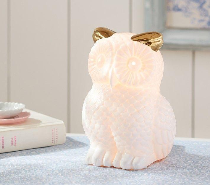 Glowing Owl Lamp Kids Room Lighting Owl Lamp Baby