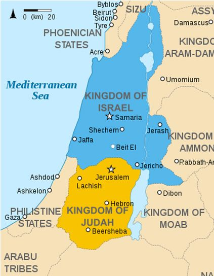List of prophets of israel and judah gospel pinterest pdf map of the levant circa 830 bce illustration ancient history encyclopedia gumiabroncs Images