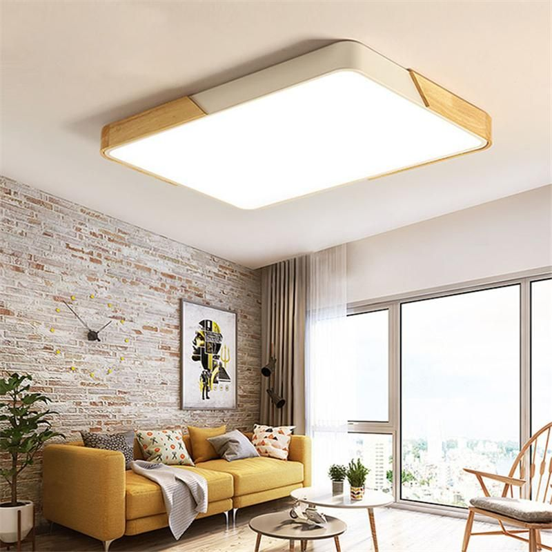 Surface Mounted Wood Led Ceiling Lights Home Light Fixtures