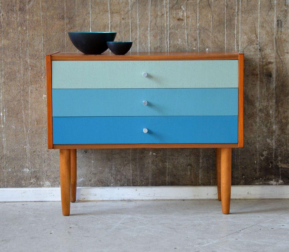 Designer Kommoden 60er teak kommode design 60s vintage cabinet midcentury finn