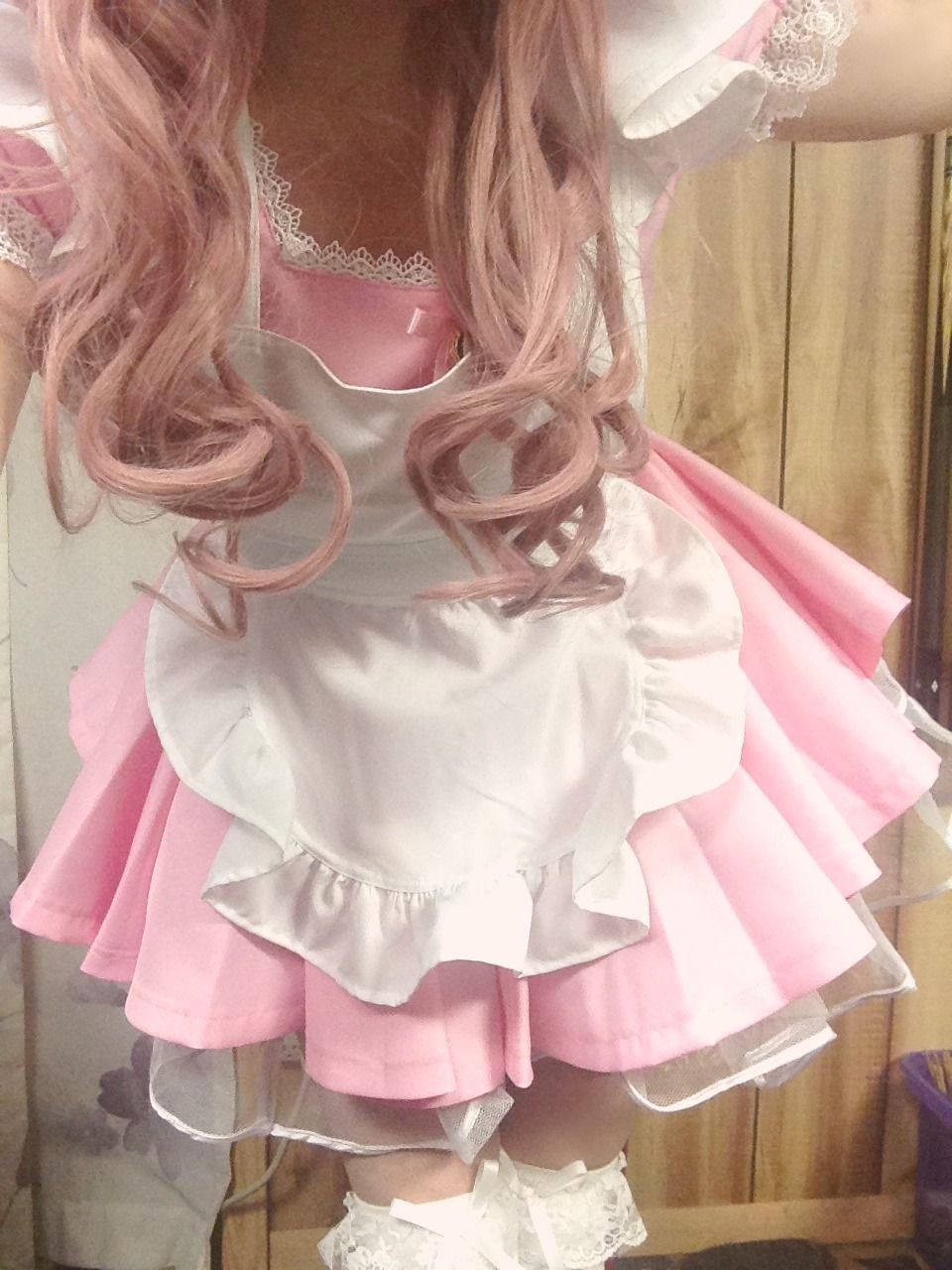 Kawaii Pink Maid Outfit