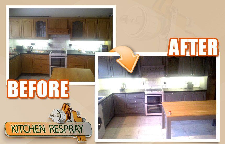 Kitchen Respray F B Plummett Kitchen Respray Kitchen Kitchen Cabinets