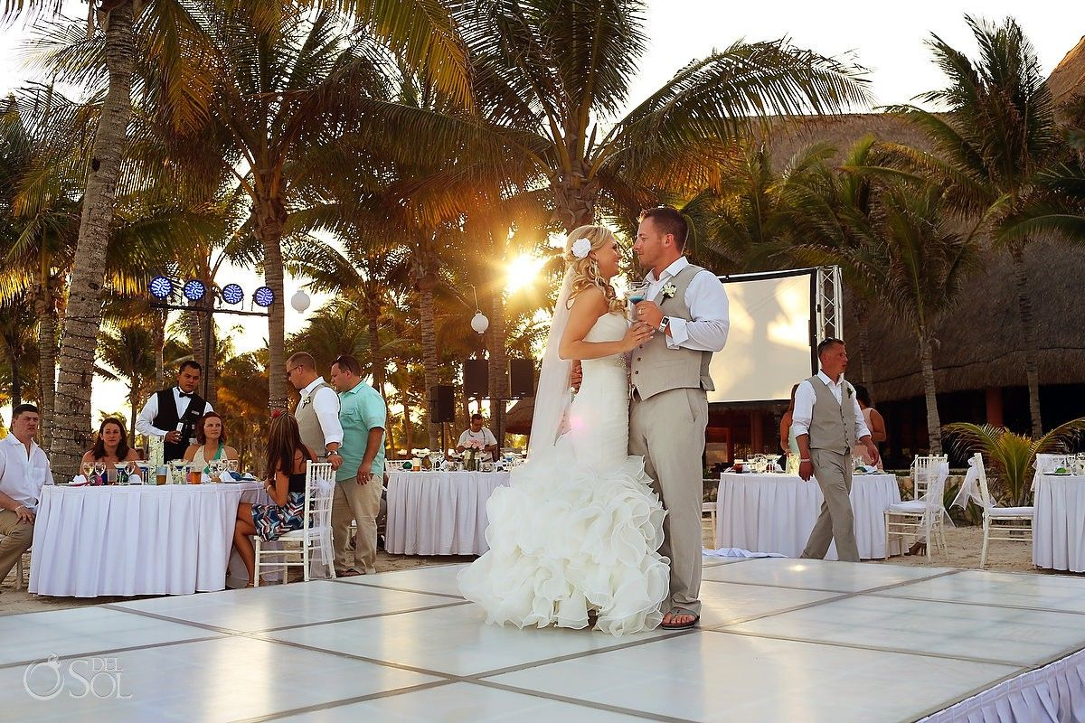 Mexico Wedding In The Riviera Maya At Barcelo Palace Resort Beautiful First Dance Photographers Del Sol Photography