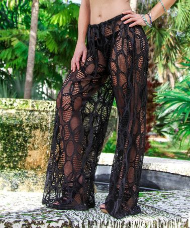 f7d818db395 You are sheer and sexy in this swim-suit cover up. Black Sheer Circle  Palazzo Pants #zulilyfinds Finding you the best beach, Wild Side  Destinations, Mexico, ...