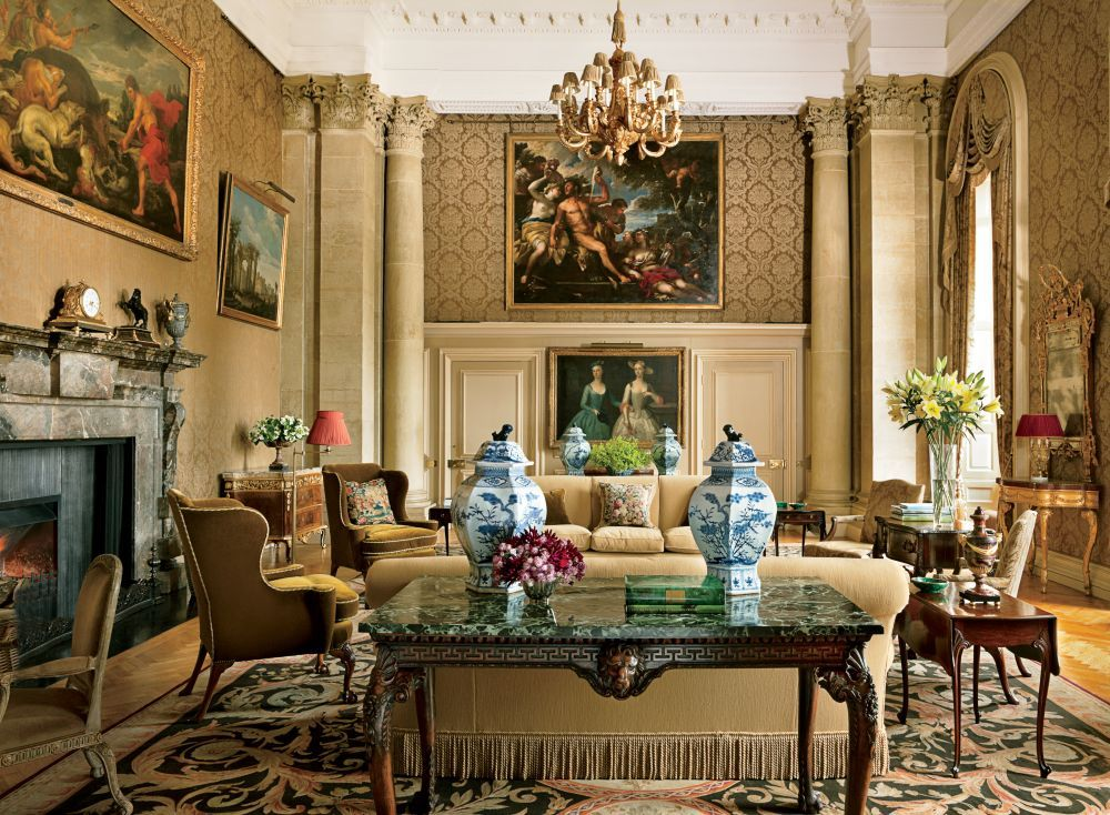 In The Northamptonshire England Drawing Room Of Fashion Designer Extraordinary Classic Living Rooms Interior Design 2018