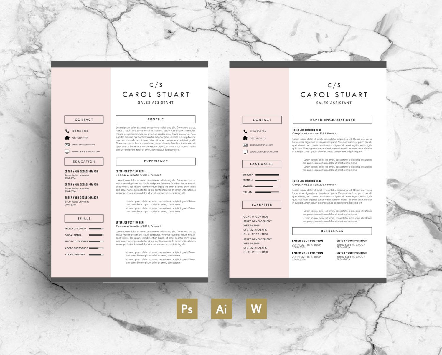 Image Result For Etsy Resume Template Creative Resumes