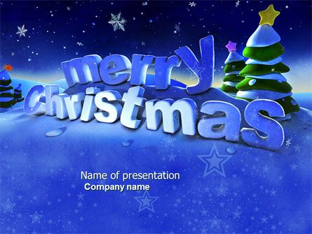 wwwpptstar/powerpoint/template/free-happy-christmas - winter powerpoint template