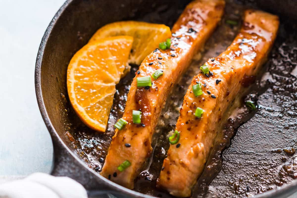 f678e8307c48 Pan seared orange mustard salmon - easy