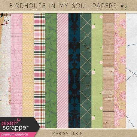 Birdhouse In My Soul Papers Kit #2