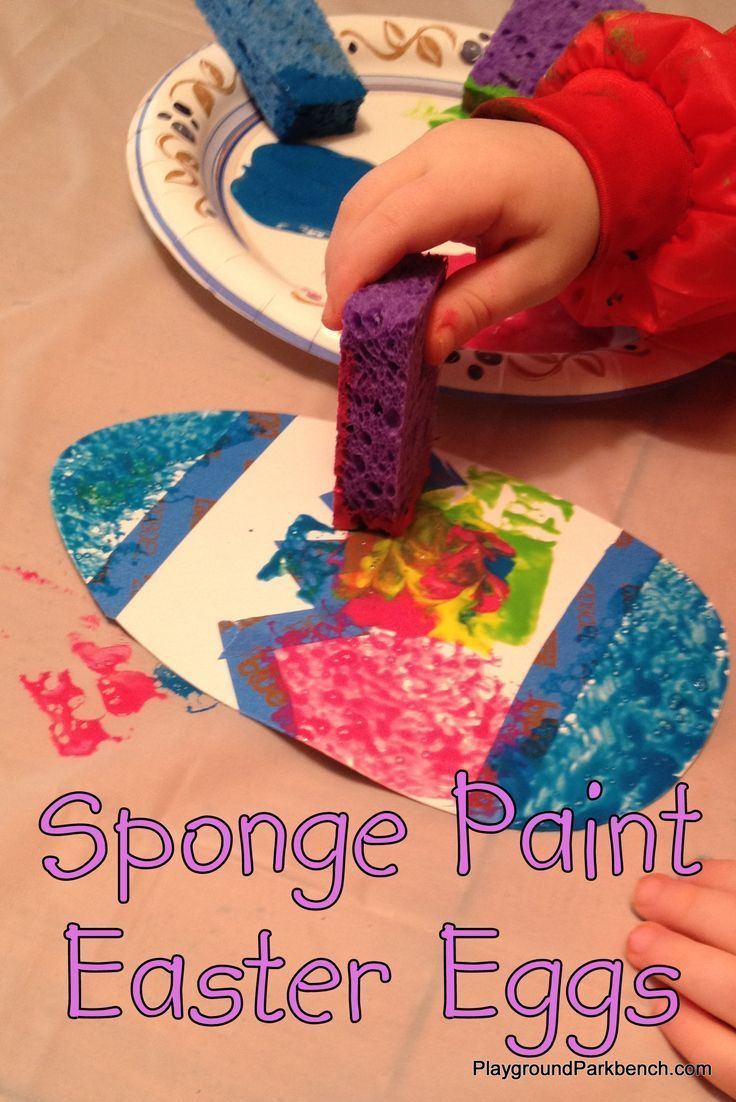 Photo of Sponge Paint Easter Eggs