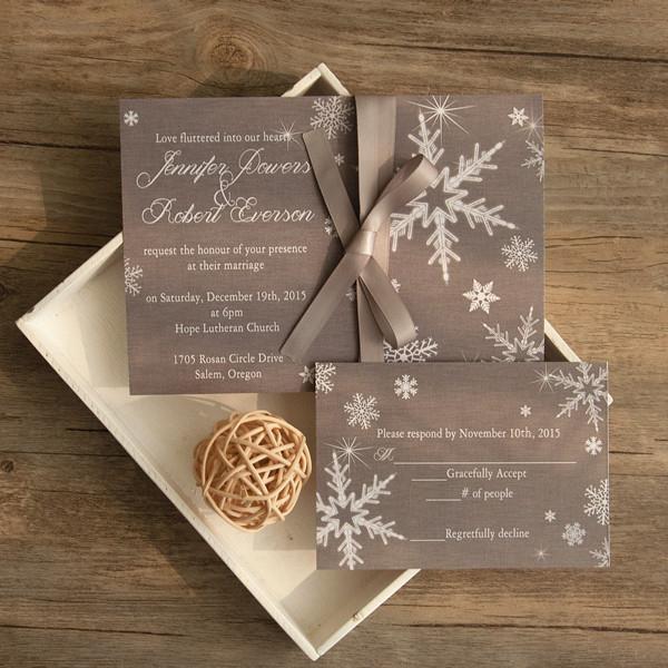 Elegant Grey Winter Wedding Invitations Ewi411 In 2021 Winter Wedding Stationery Elegant Wedding Invitations Snowflake Wedding Invitation