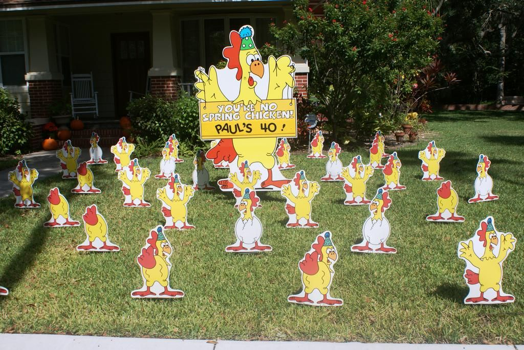 40th Birthday Lawn Signs Party Ideas