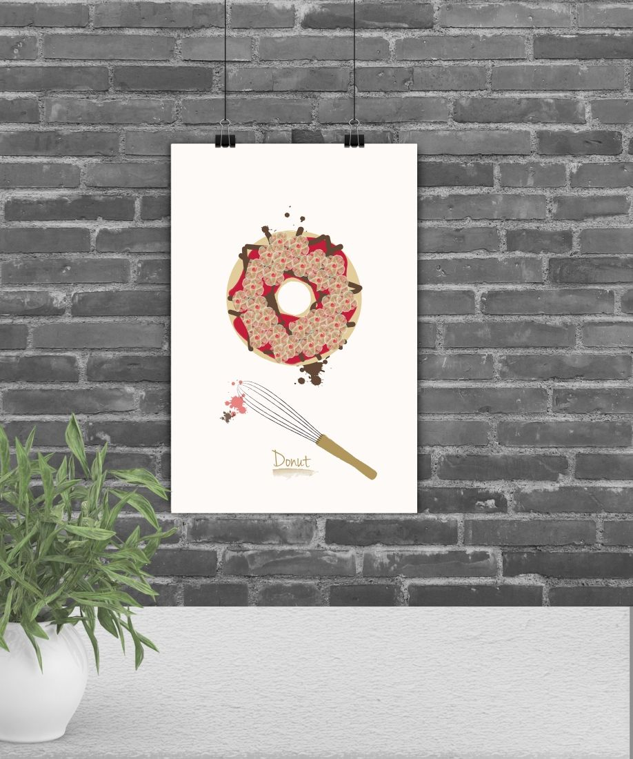 Fine art prints home decor kitchen wall art kitchen illustration