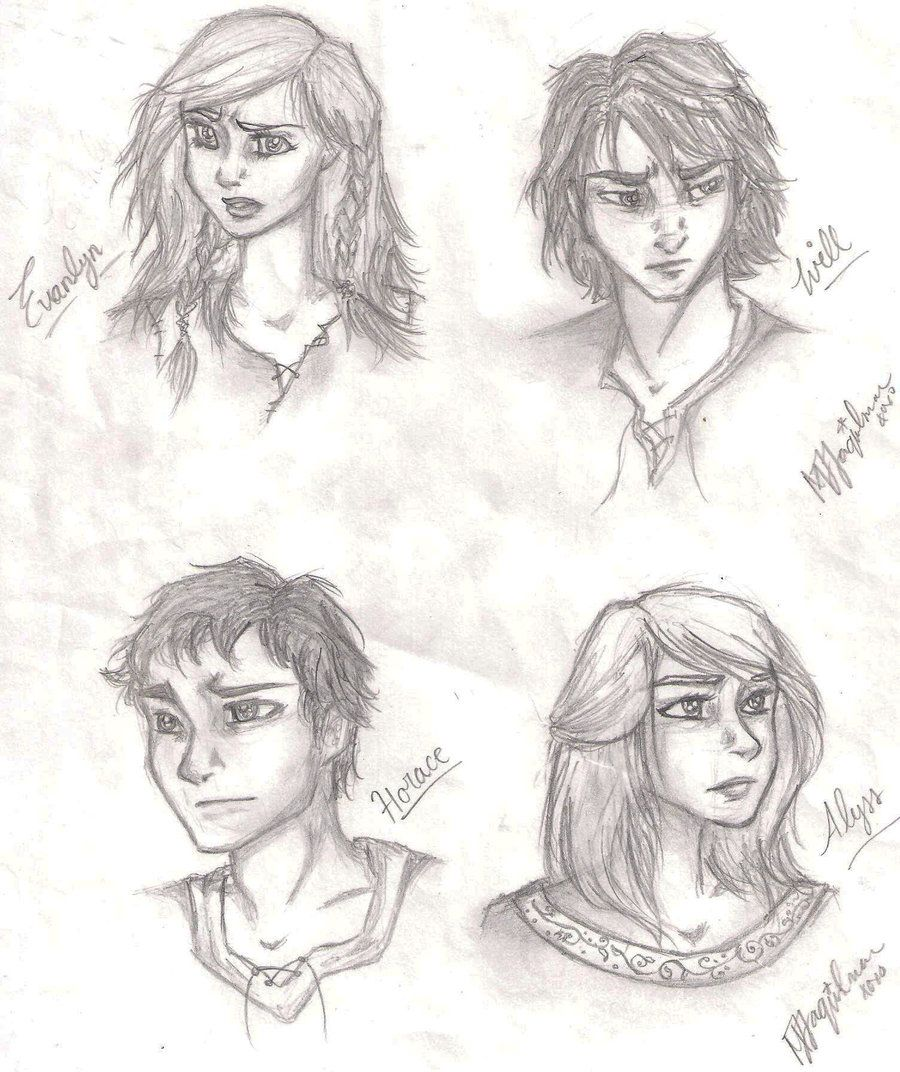 Evanlyn, Will, Horace, and Alyss