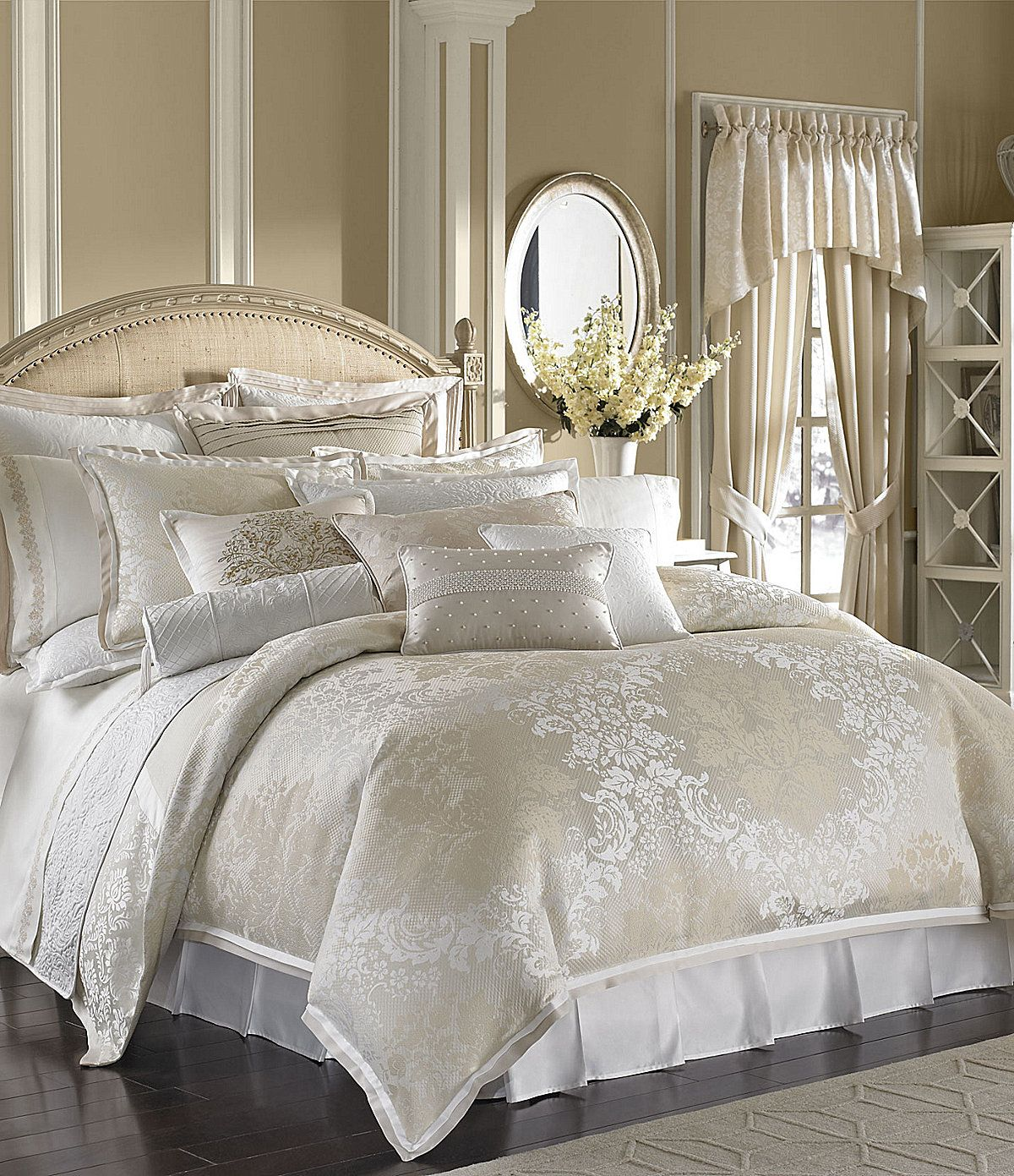 Reba Guilded Age Reversible Bedding Collection Loving The White And Ivory