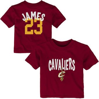 9079d8f65 Infant Cleveland Cavaliers LeBron James Name and Number T-Shirt – Wine