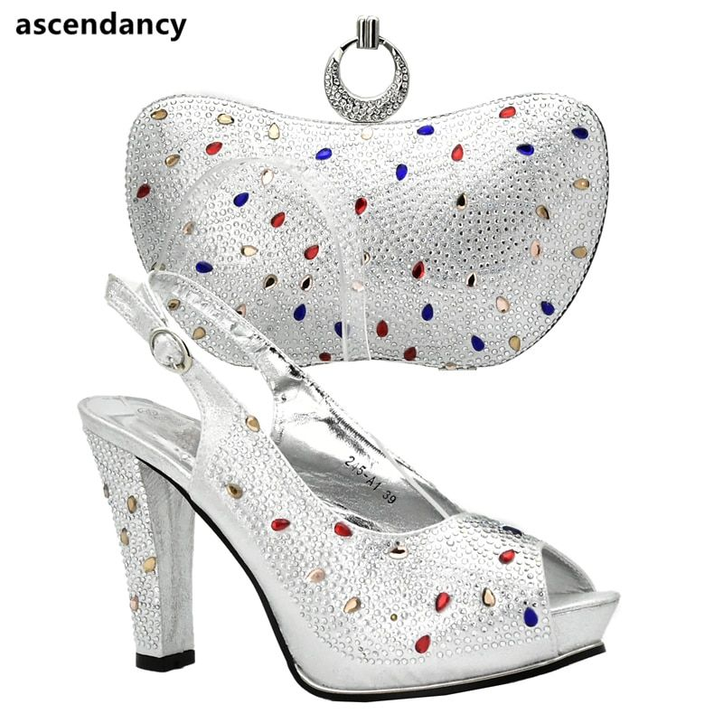 Red Color Italian Ladies Shoes and Bags To Match Set Nigerian Shoes and Matching  Bags African Women Wedding Shoes and Bag Sets 9a7792250b19