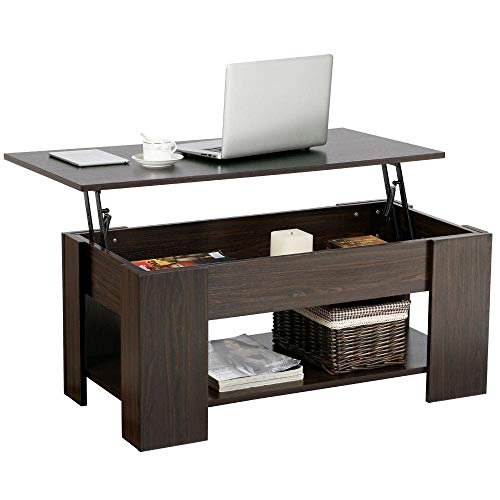 Lift Up Top Coffee Table With Under Storage Shelf In 2020 Modern