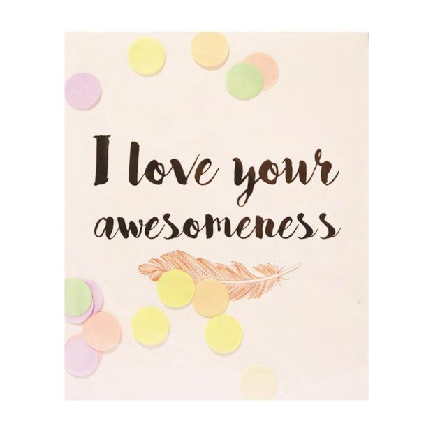 The Gift Label Confetti Kaart - I Love Your Awesomeness - afbeelding 1