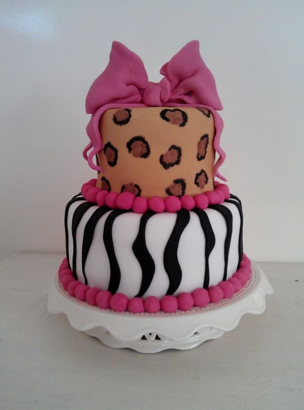 Birthday Cake Animal Print Quinceneria Party Ideas Pinterest