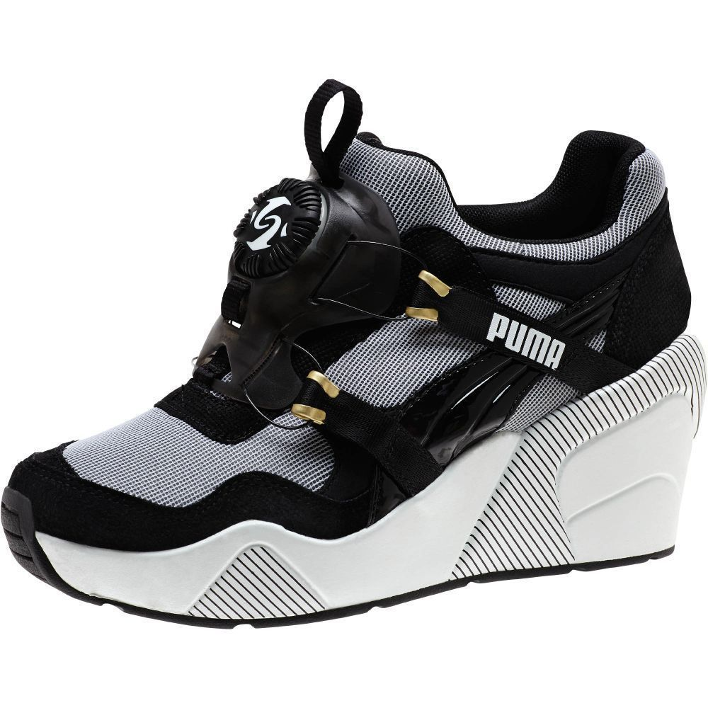 b973a0bb734 PUMA Disc Wedge Black and White Women s Sneakers  PUMA  MidBoot ...