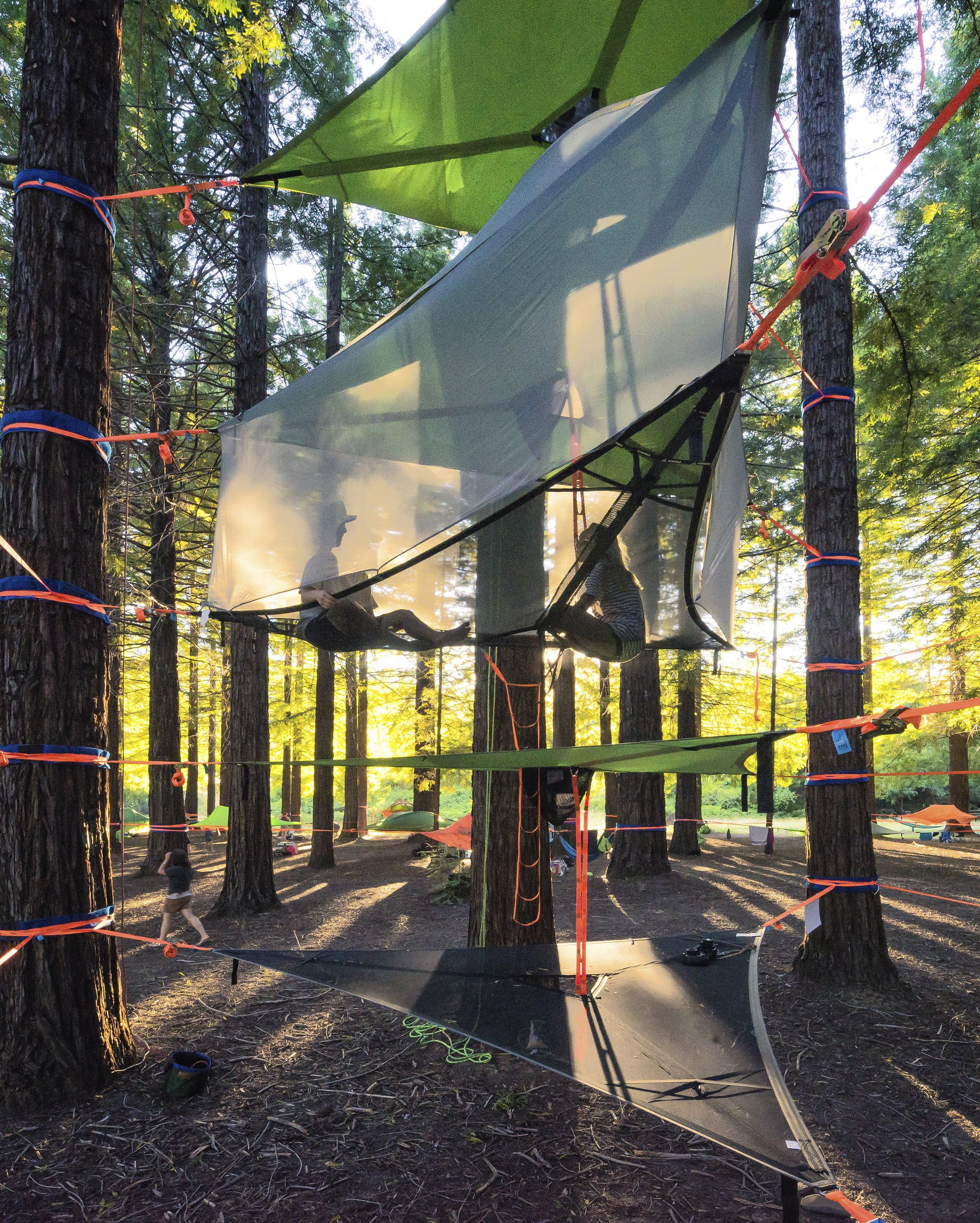 outdoor geodesic tentsile for gatherings cover with hammock tent dome pin festivals