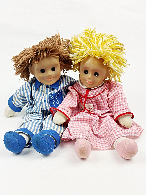 Pimprenelle et Nicolas poupées de chiffon Vintage