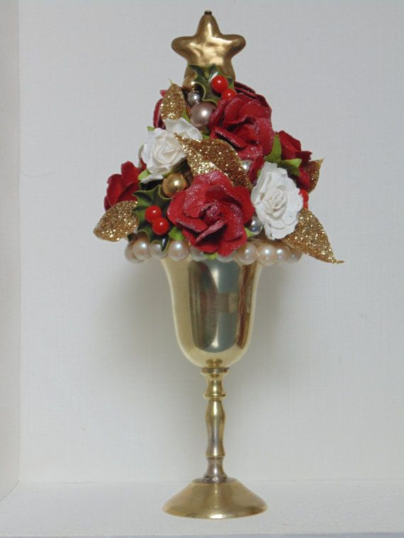 CLEARANCE!! Mini Tree Topiary Decor Roses Christmas Star Pinterest - christmas clearance decor