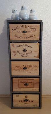 Regal Nr. 2 aus Weinkisten | home deko | Pinterest | Weinkisten ...
