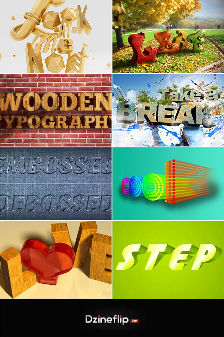 Adobe photoshop photo effects tutorials images any tutorial examples step out of your shell with these 3d text effect tutorials step out of your shell baditri Choice Image